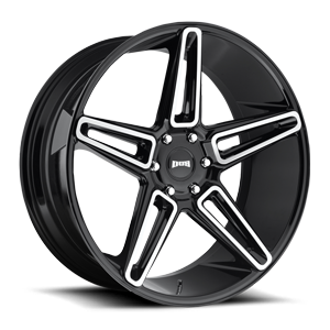Lit 24x10 Gloss BLK brushed face A1 3001